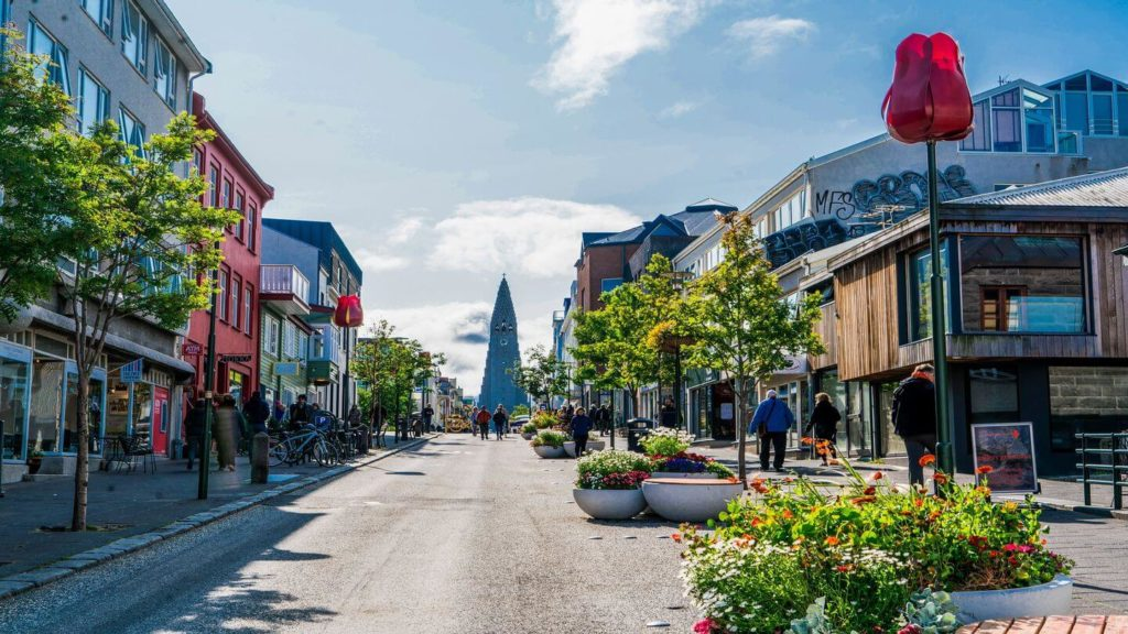 pretty streets of Reykjavik Iceland Scandinavian capital cities