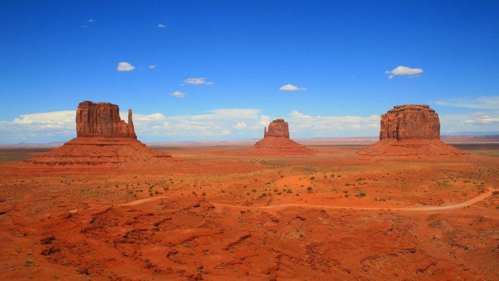 red landscapes sandstone towers Monument Valley USA