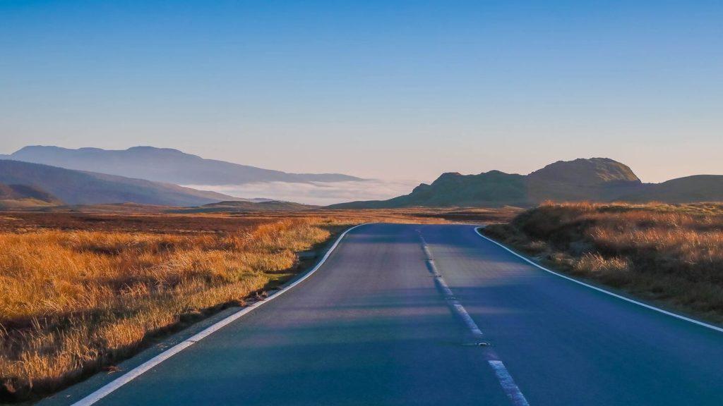 remote empty road rural landscape