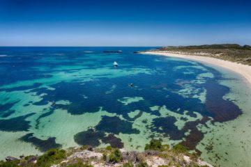 turquoise ocean beach Rottnest Island Western Australia