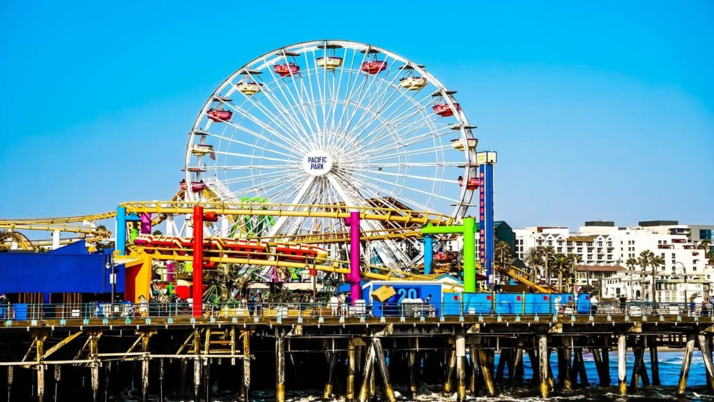 ferris wheel Santa Monica Pier Los Angeles USA