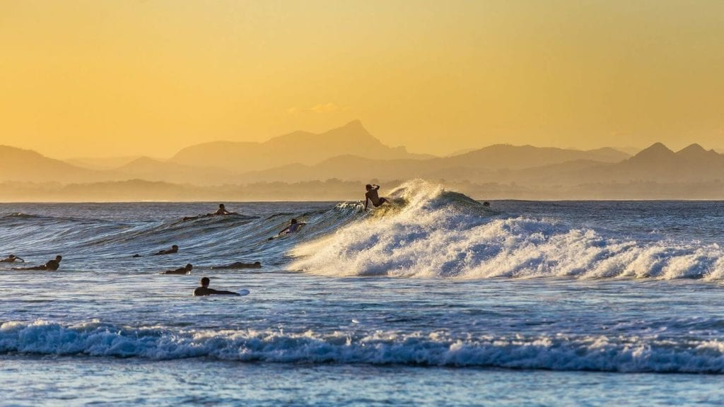 surfing ocean waves what Aussies love about Australia