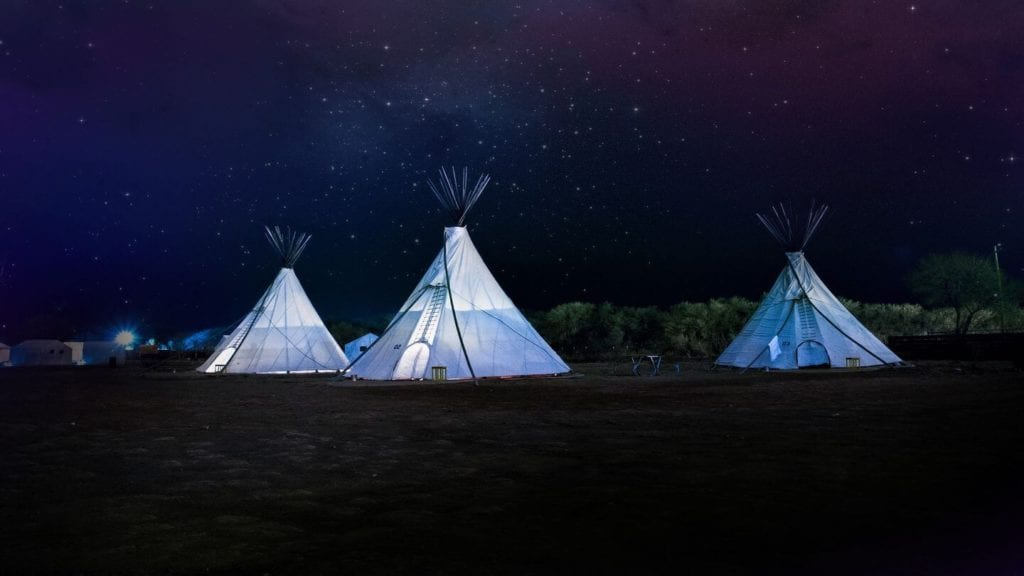 teepee tents sleeping under the stars reconnect with nature