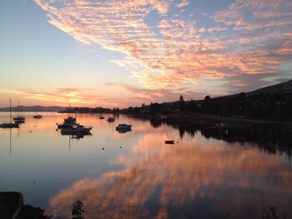 Derwent River Hobart at sunrise