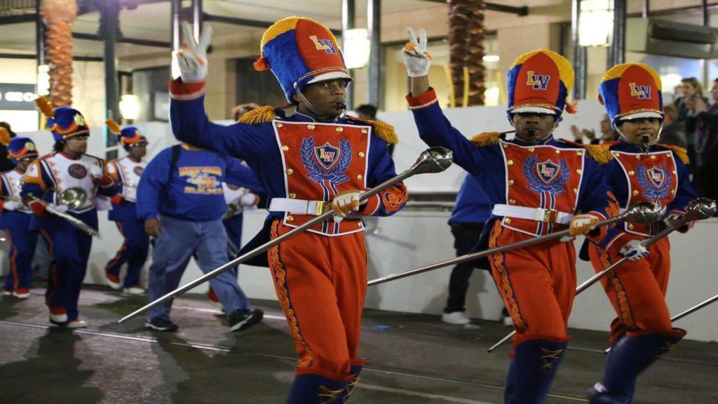 band parade Mardis Gras festival New Orleans USA