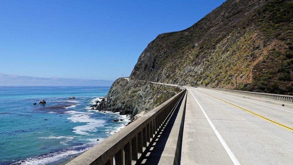 ocean road Pacific Coast Highway USA