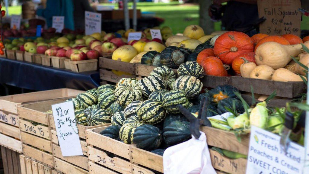 fresh produce farmer's market travel in fall