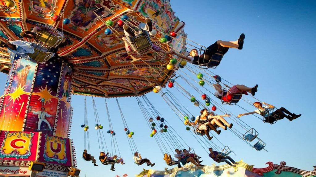 Oktoberfest show ride Munich Germany travel in fall