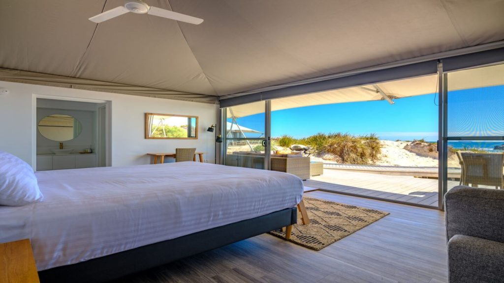 bedroom eco tent Discovery Rottnest Island Western Australia