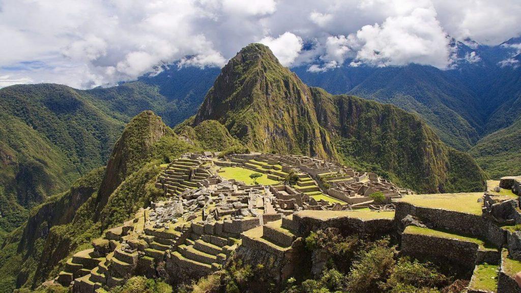 ancient lost city Macchu Picchu Peru