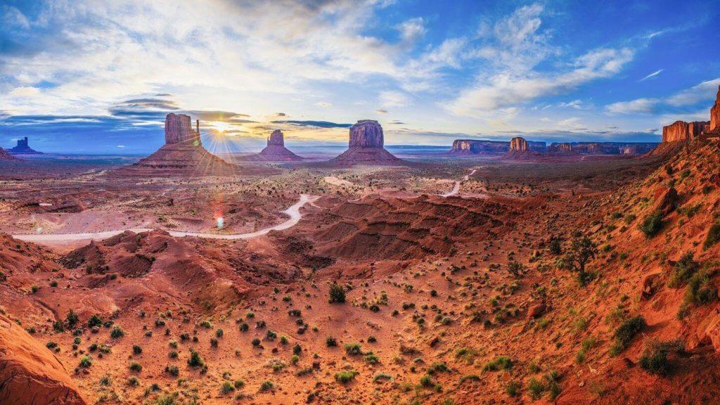 red sandstone spires Monument Valley USA celebrate retirement