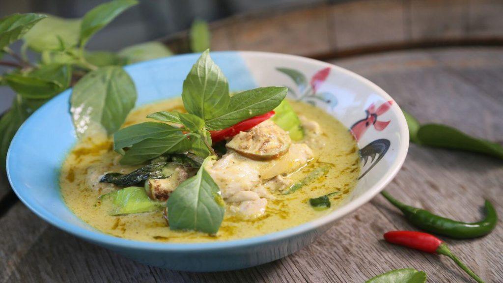 Thai green curry Thai street food