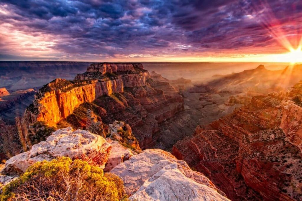 Grand Canyon at sunset large family holidays