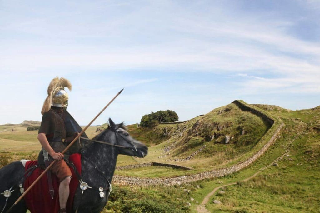 Roman soldier at Hadrian's Wall large family holidays
