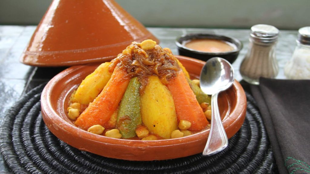 traditional tagine and couscous Morocco Arabic food