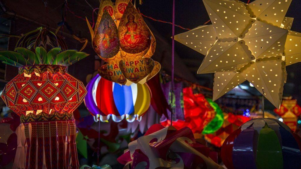 Diwali lanterns and decorations