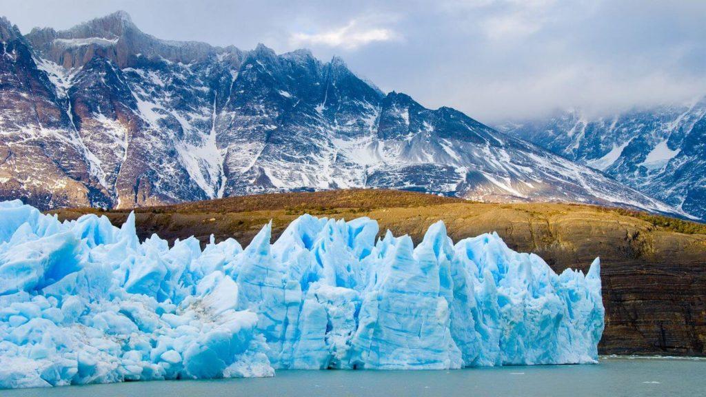 glacier Patagonia travelling in 2021