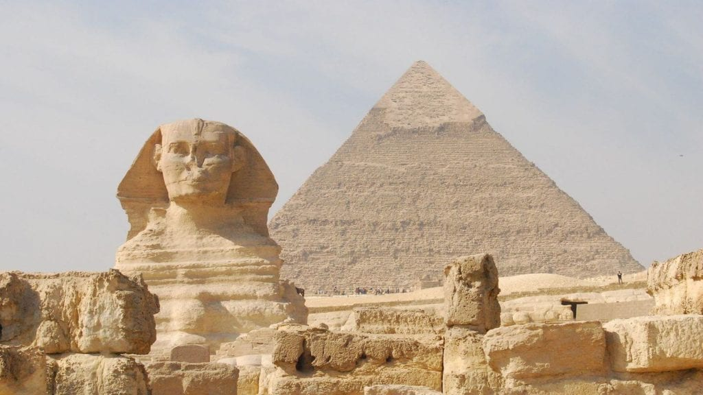Great Pyramid and Sphinx of Giza travelling in 2021