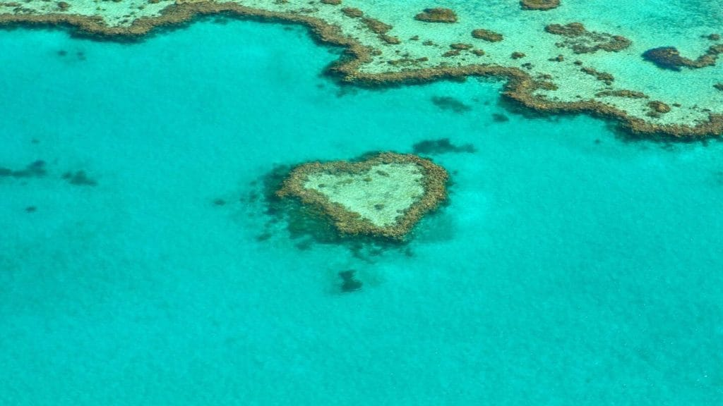 heart shaped island in the Great Barrier Reef