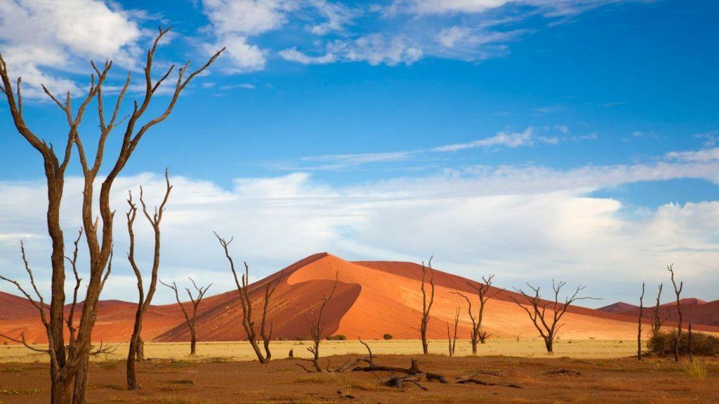red dunes Sossusvlei Namibia travelling in 2021