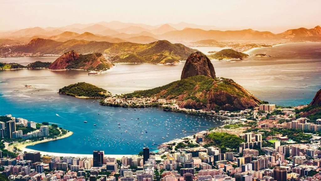 aerial view over Rio de Janeiro Brazil travelling in 2021