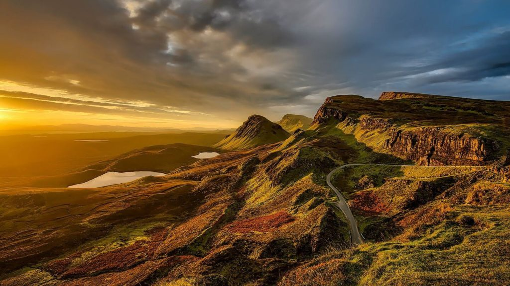 mountains of the Scottish Highlands