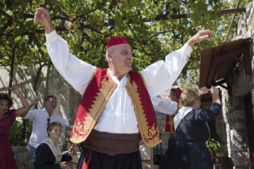 Man dancing in traditional Croatian dress