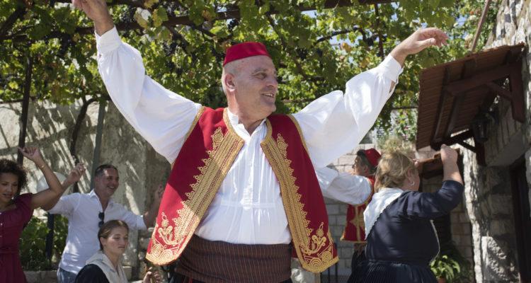 Man dancing in traditional Croatian dress