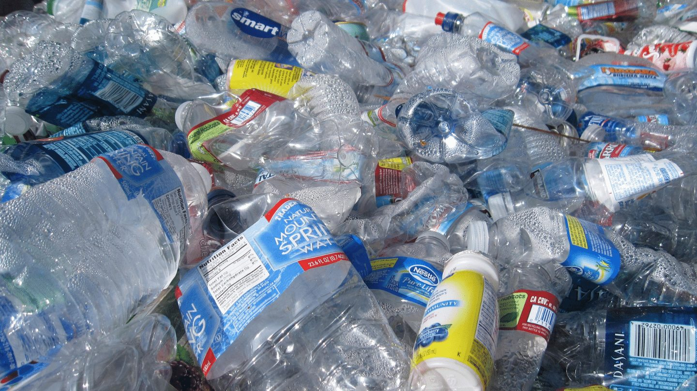 Pile of plastic bottles - avoid single use plastics travel responsibly