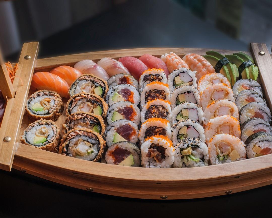 platter of sushi