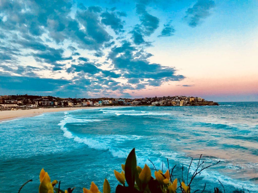 Bondi beach at sunset, Sydney, Australia