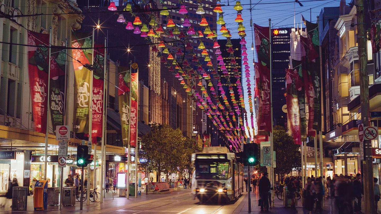 Christmas shopping in Melbourne, Australia