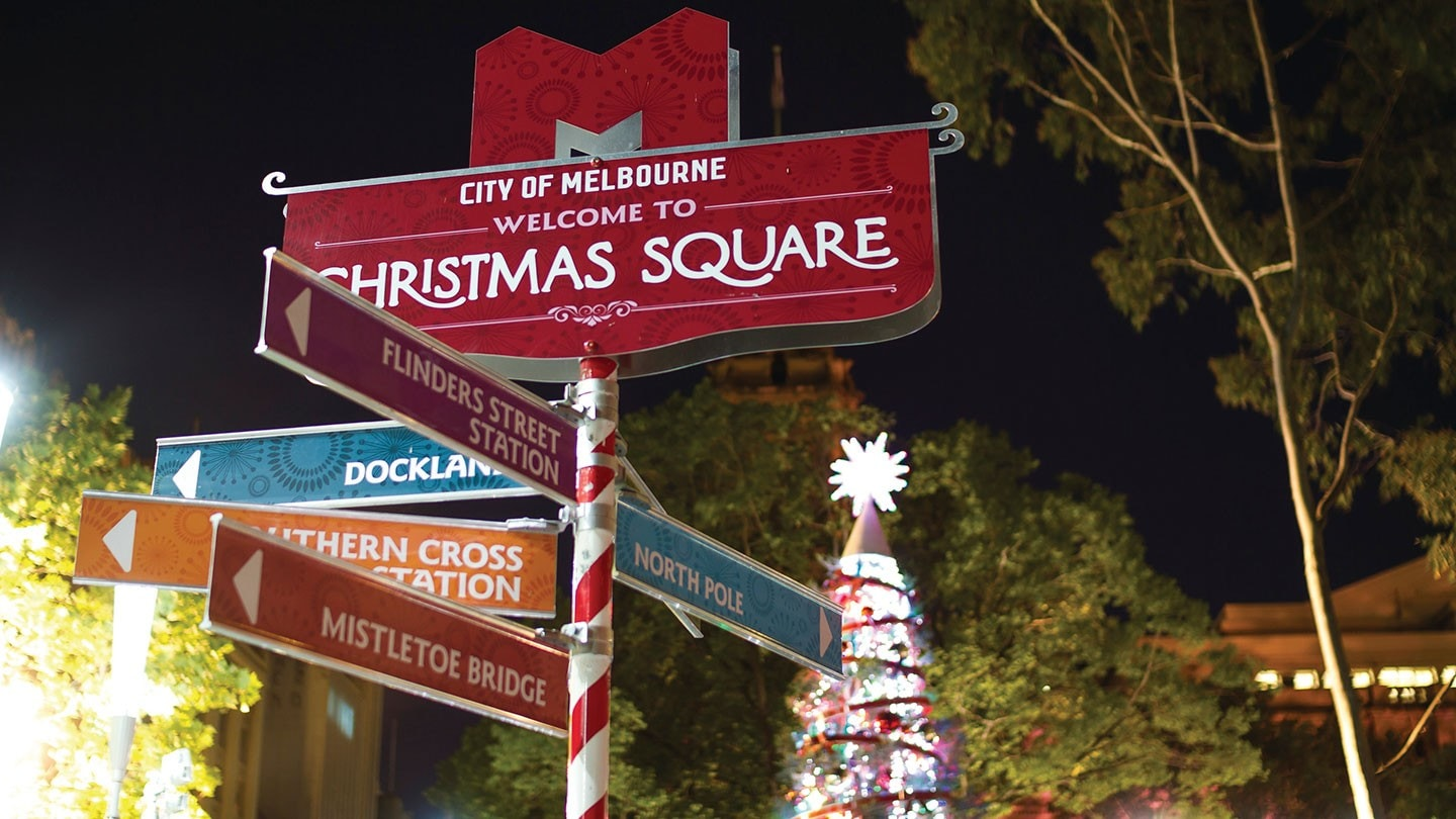 Christmas Square in Melbourne