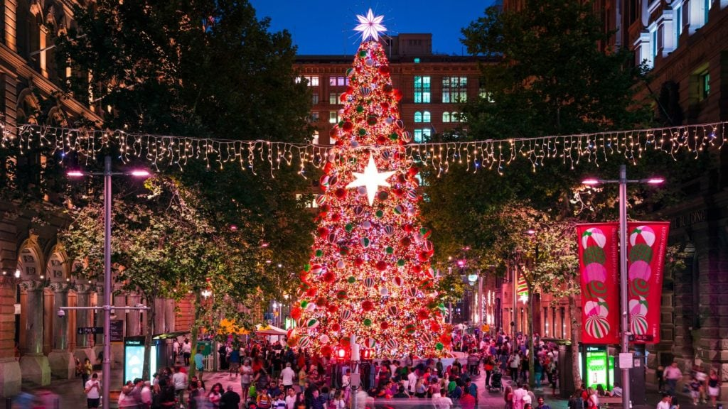Christmas tree Martin Place