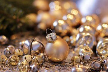 golden Christmas baubles Christmas in Vietnam