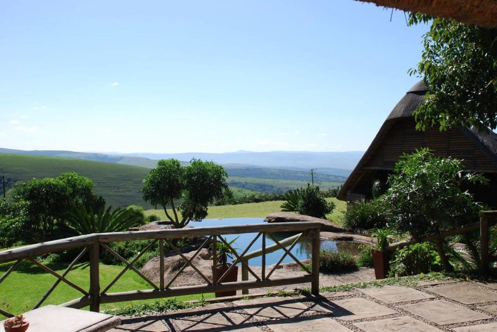 mountain views from Mtonjaneni Lodge South Africa