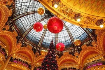Paris La Fayette department store Christmas decorations French Christmas
