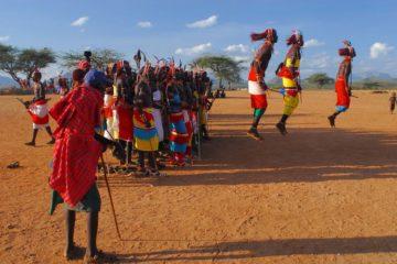 Samburu tribe jumping display Kenya