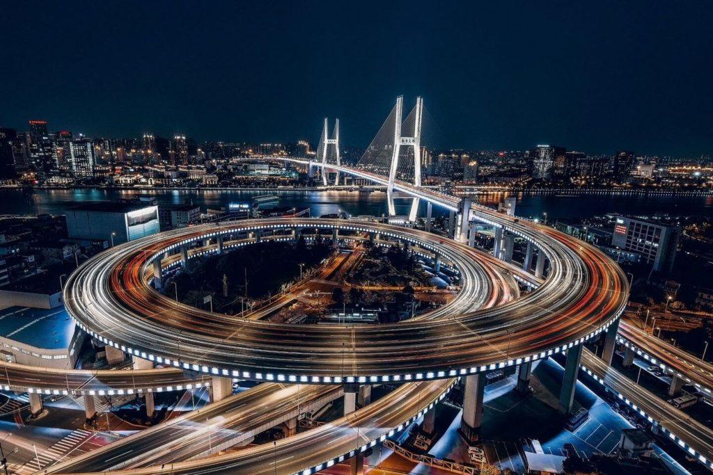 Panorama of Shanghai by night Asia bucket list