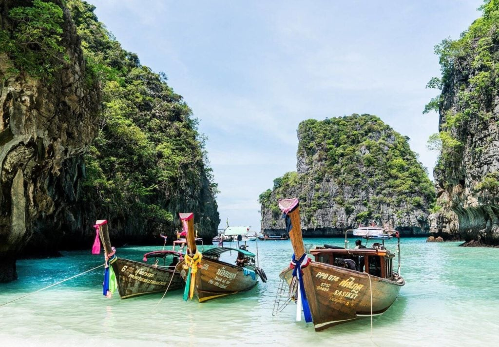 traditional boats in the Thai islands Asia bucket list
