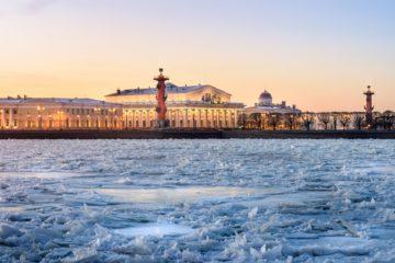 winter season in Saint-Petersburg, Russia