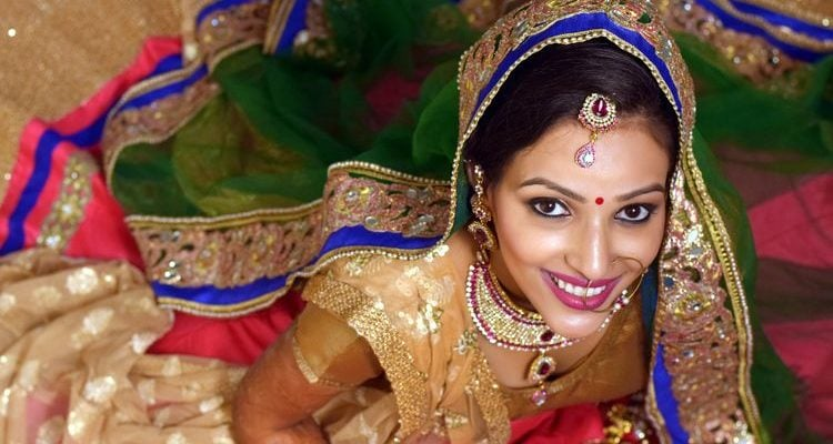 Indian bride in traditional dress Indian culture