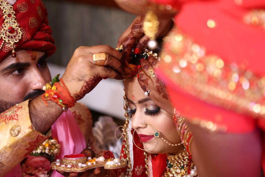 Indian bride and groom Indian wedding
