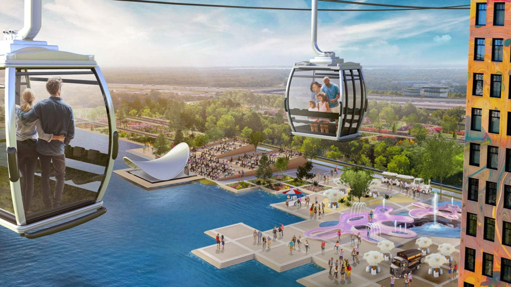 Catch the cable car over Floriade 2022
