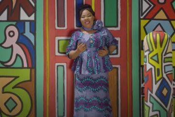 Tanzanian musician Saida Karoli in her film clip for her song Orugambo