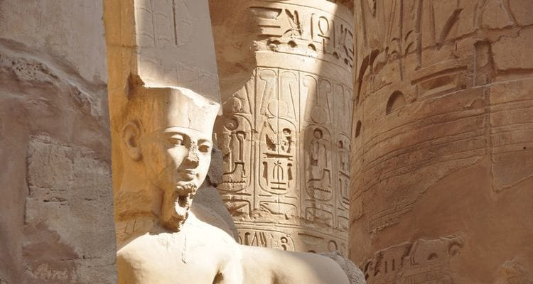 ancient statue temple Egypt Death on the Nile