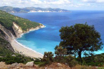 blue ocean bay Kefalonia trip to Greece