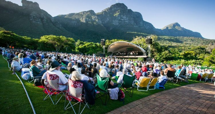 Concert on the lawn of Kirstenbosch Botanical Gardens South African music