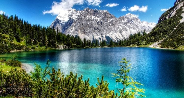 blue lake Austrian Alps fun facts about Europe