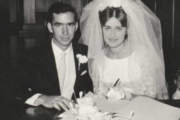 Hammie and Norma Lategan on their wedding day